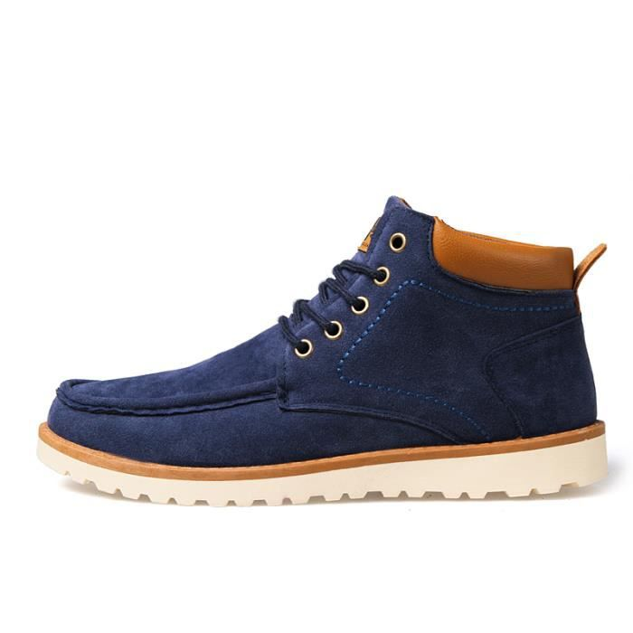 Mode hommes de basket - ball chaussures respirant chaussures de sport de plein air automne cheville bottes hommes bottes Doré TKeNpK9Qd