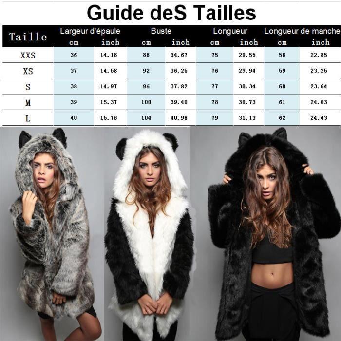 Marque Fourrure Long Moyen Nouveau Imprimé Animalier Luxe Texturé Femme De Mode À Fausse Manteau Sauvage n4TEaFY