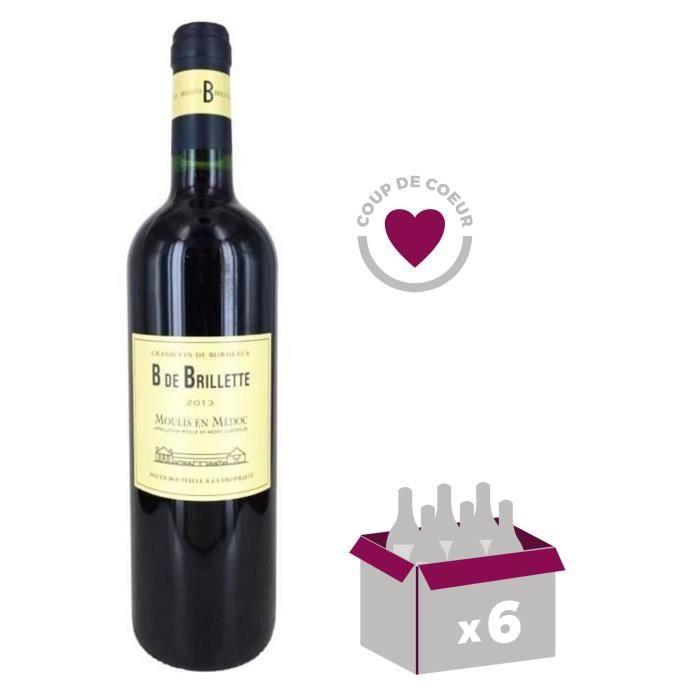 X6 Lacoste Borie 2016 75 cl AOC Pauillac 2ème Vin Classé Vin Rouge