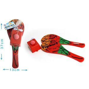 JOUET DE PLAGE Jeu Topkary: 2 raquettes + socle et balle