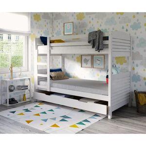 woopi lit superpos enfant mixte tiroir en bois massif. Black Bedroom Furniture Sets. Home Design Ideas