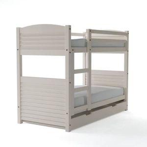 lit superpos mezzanine achat vente lit superpos mezzanine pas cher black friday le. Black Bedroom Furniture Sets. Home Design Ideas