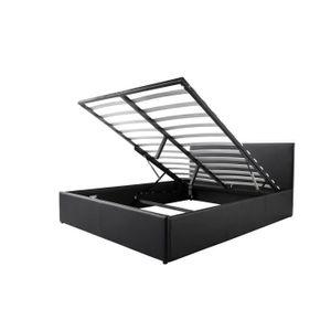 lit coffre 140x190 achat vente lit coffre 140x190 pas cher cdiscount. Black Bedroom Furniture Sets. Home Design Ideas