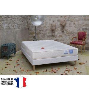 BENOIST Ensemble matelas + sommier 140x190cm 19cm latex 75kg/m? mousse 35kg/m? ferme