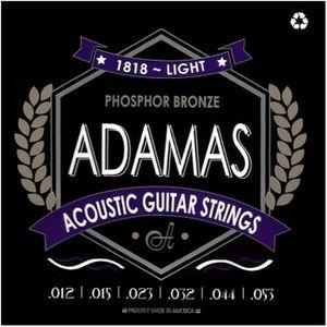 CORDE POUR INSTRUMENT Adamas 1818 Light Cordes guitare folk acoustique 1