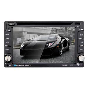 LECTEUR HD DVD Autoradio Bluetooth de 6,2 pouces, écran tactile p