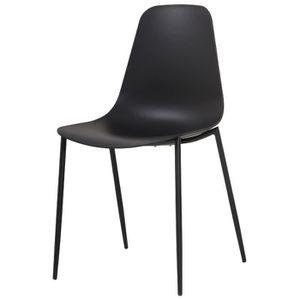 CHAISE SHIRLEY Chaise de salle à manger - Noir mat - Scan