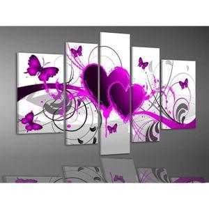 TABLEAU - TOILE peints à la main chaude love papillon peintures à