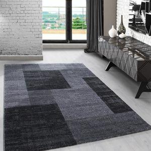 Tapis A Poil Court Design Moderne A Carreaux Marbre Pour Salon Salle