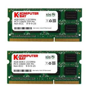 MÉMOIRE RAM Komputerbay KB_8GB_2X4GBDDR3_SO1333_APPLE3 Mémoire