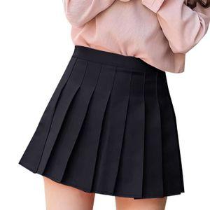 5683edb1096 JUPE Jupe Plissée Femmes Courte Taille Haute Mini Robe
