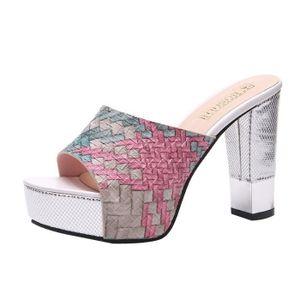 SANDALE - NU-PIEDS Mode féminine Couleurs Monnaies Chaussures Bas EPA