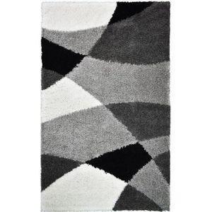 TAPIS NORA Tapis de couloir shaggy - 80 x 140 cm - Gris