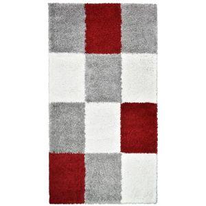 TAPIS NORA Tapis de couloir shaggy - 80 x 140 cm - Rouge