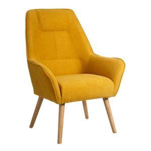 Fauteuil Jaune Velours Achat Vente Pas Cher - Fauteuil jaune moutarde pas cher