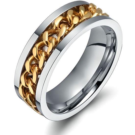 sélection premium 2ca5f 69003 BAGUE FIANCAILLE MARIAGE ANNEAU HOMME FEMME CHAINE ENCHAINEE PLAQUE OR