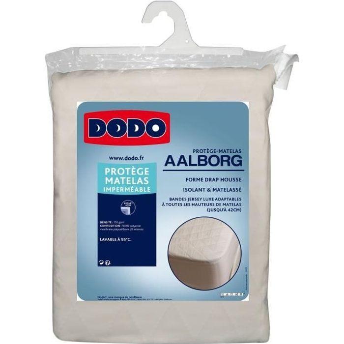 DODO Protège matelas Aalborg - Matelassé et imperméable - 140x190 cm