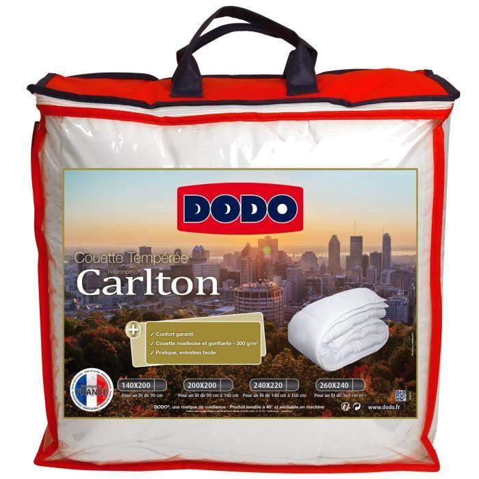 DODO Couette tempérée 300 gr/m² Carlton - 140x200 cm - Blanc