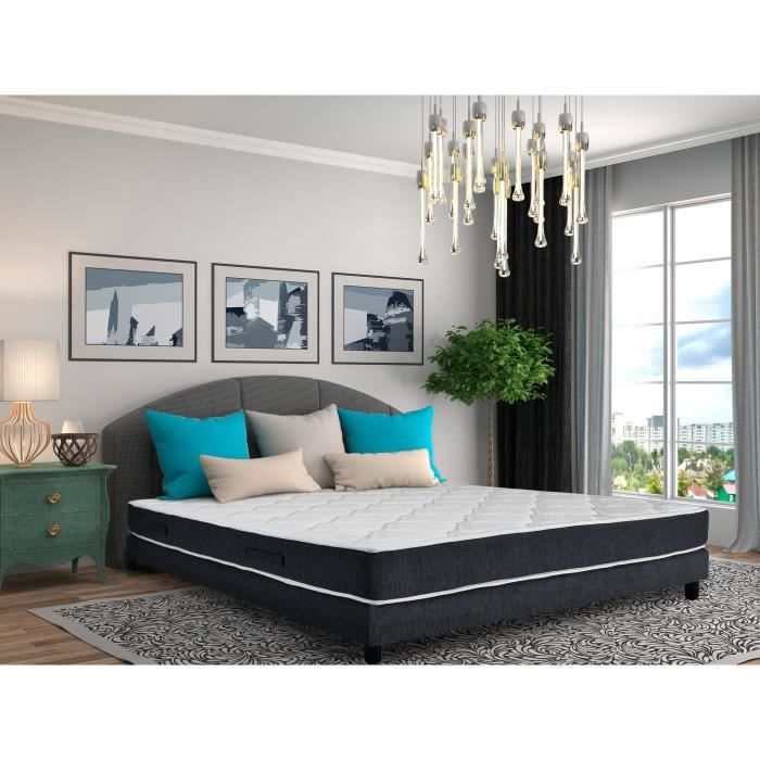 lit ensemble sommier et matelas belle literie. Black Bedroom Furniture Sets. Home Design Ideas
