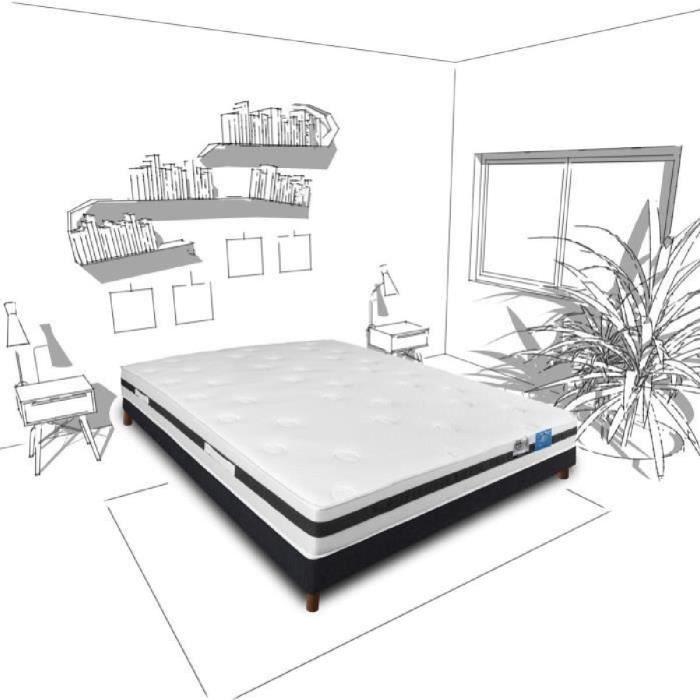 ensemble sommier et matelas benoist belle literie. Black Bedroom Furniture Sets. Home Design Ideas