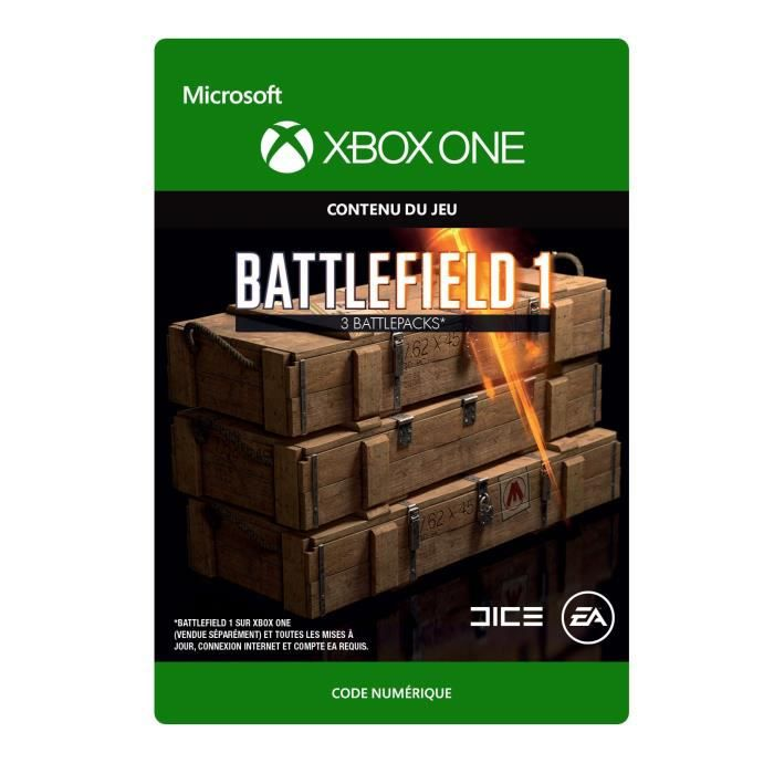 DLC Battlefield 1: 3 Battlepacks pour Xbox One
