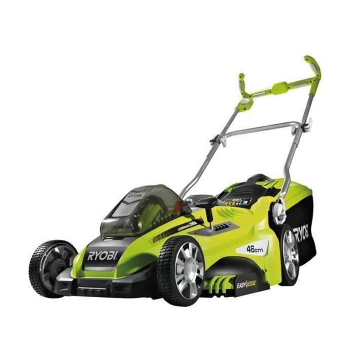 Tension : 36 V - Moteur sans charbon - Hauteur/largeur de coupe : 7/46 cm - Surface du jardin : 800 m².TONDEUSE