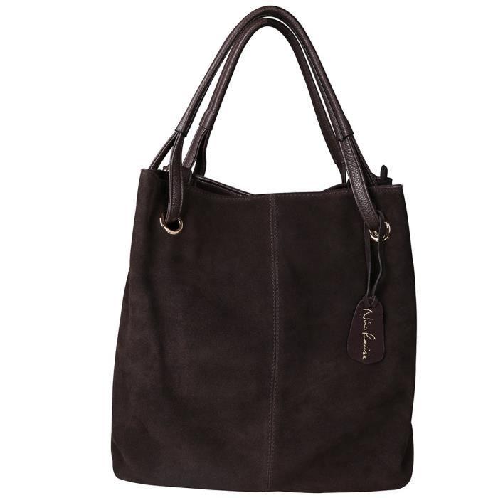 Véritable épaule de sac à main en daim en cuir sac à main fourre-tout décontracté V1HY5