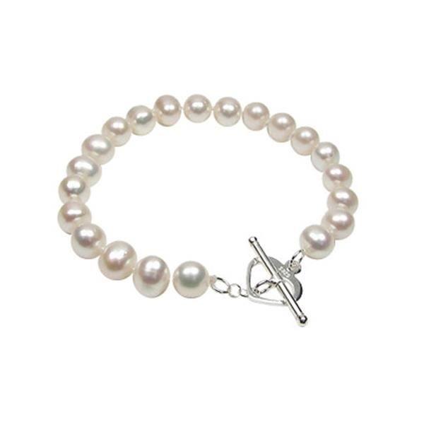 Bracelet Perles Blanches et fermoir Coeur F