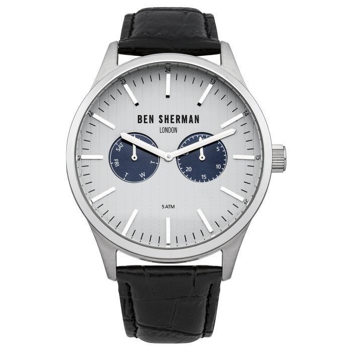 a8e80420f40 Ben Sherman - WB024S - Montre Homme - Quartz - Chronographe - Bracelet Cuir  noir