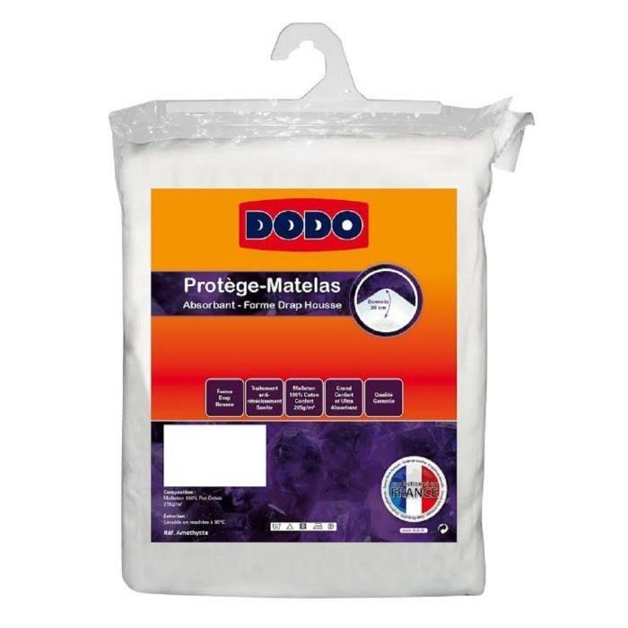 DODO Protège matelas Améthyste 140x190 cm en forme de drap housse