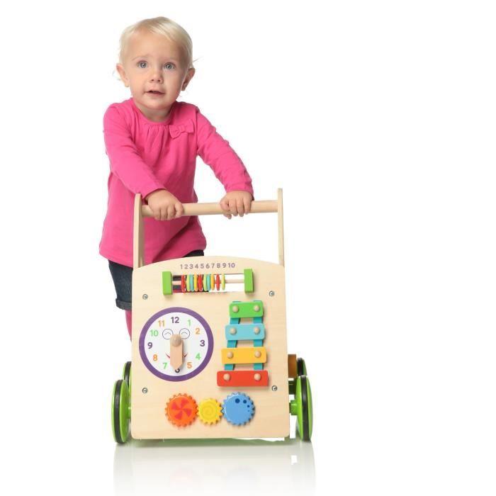 parkfield trotteur en bois avec activit s achat vente chariot de marche 4893413811402. Black Bedroom Furniture Sets. Home Design Ideas