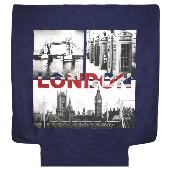 parure de lit 260x240 cm 100 coton jack london city 3 pi ces 240x260 multicolore achat. Black Bedroom Furniture Sets. Home Design Ideas