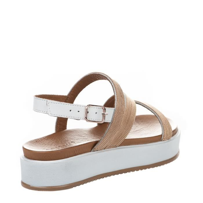 Inuovo 8728 Blanc - Chaussures Sandale Femme