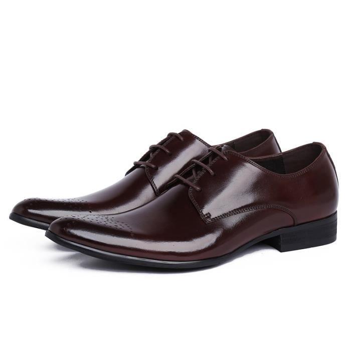 2017 nouveaux hommes est authentique Oxford en cuir chaussures confortables Semelle intérieure Croisement Robe daffaires