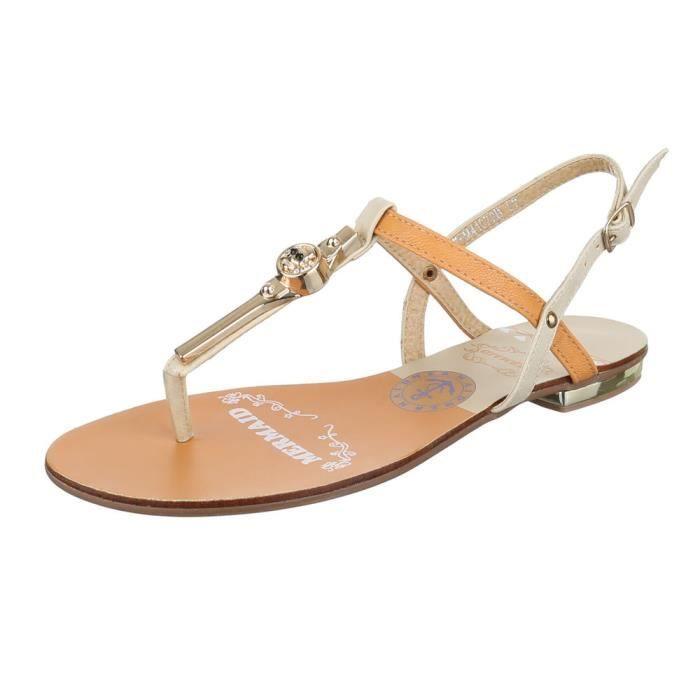 femme sandale chaussure chaussures d été chaussures de plage l orteil  séparer Beige 714ef2d6e217