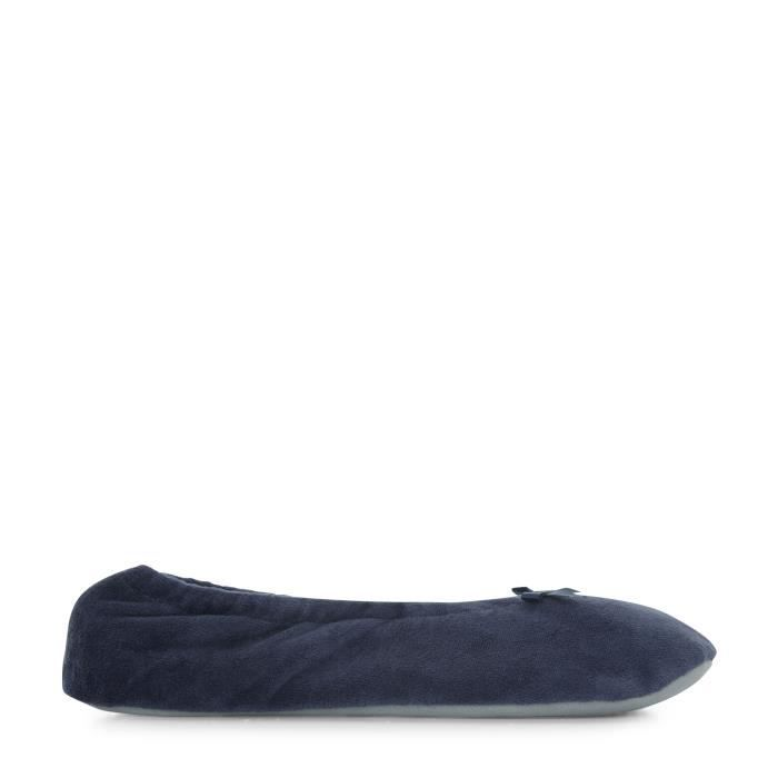Chaussons ballerines en velours sqay7XOHO3
