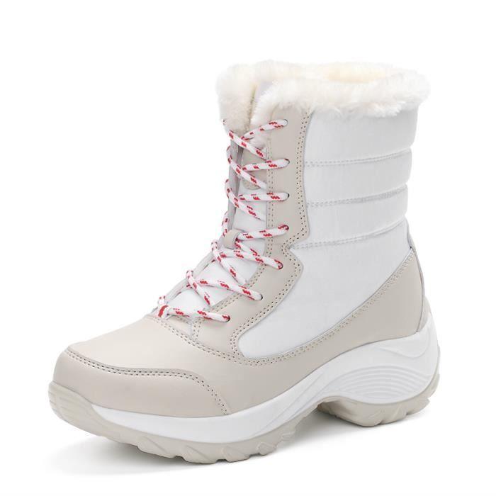 Bottes femme Chaussures montantes Bottes chaudement populaires Chaussures hiver Bottes meilleur Bottes mode Chaussures mode