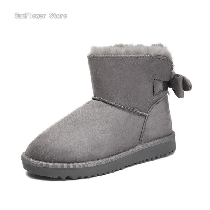 Femmes Casual Bottine Chaud Neige Bottes Mode D'hiver mN8nv0w
