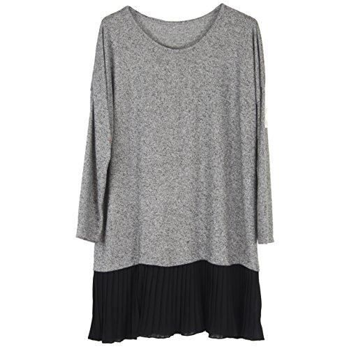 Plus Top Womens Tunic 2CMORB Wolfairy Jumper 44 Size Pleated Dress Taille YF5qP
