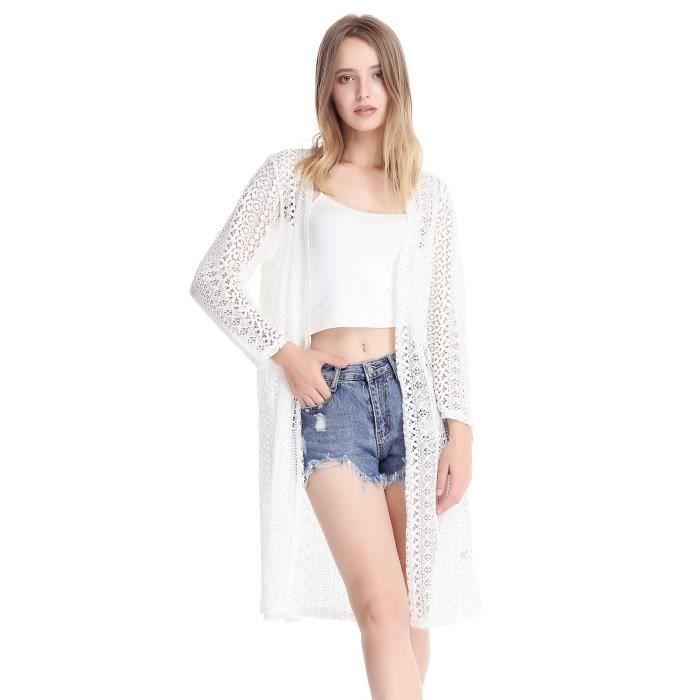 Whnjj 40 Crochet Mode Dentelle Taille Kimono Cardigan Tops Avec De Glands Des Ouvert Blouse Féminine Devant 4qwOwT