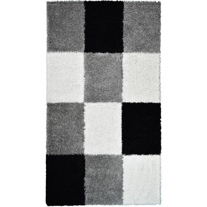 TAPIS NORA Tapis de couloir shaggy - 80 x 140 cm - Noir