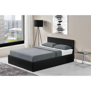 lit coffre led achat vente lit coffre led pas cher cdiscount. Black Bedroom Furniture Sets. Home Design Ideas