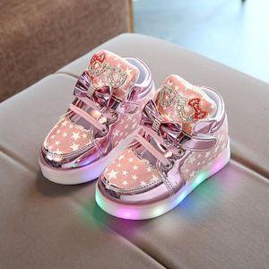BOTTE Baskets bébé Fashion Sneakers Star lumineux enfant Casual chaussures légères colorées@RoseHM NPmwFcHKb