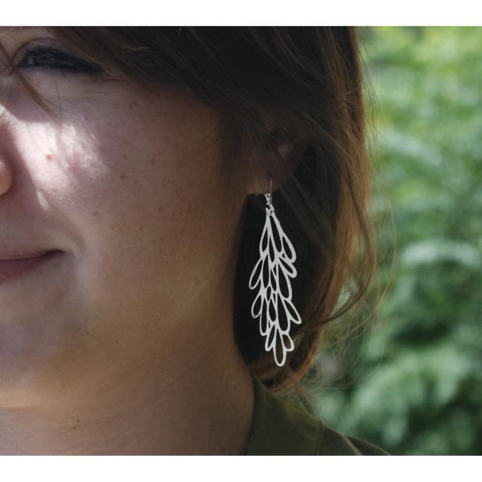 Starburst en acier inoxydable de femmes Boucles doreilles pop-out Kit de bijoux bri HOIC7
