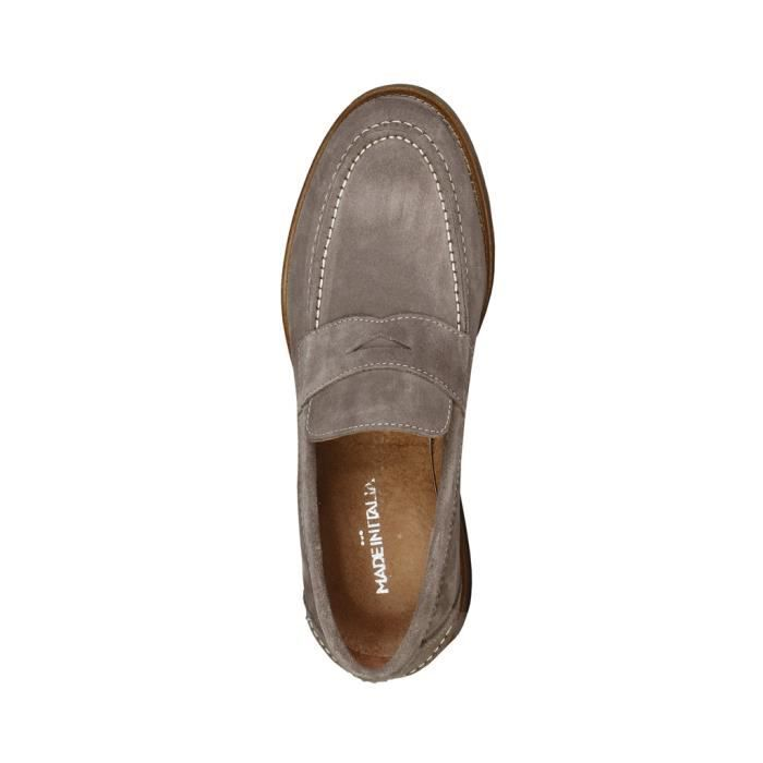 Made in Italia - Mocassins pour homme (LAPO_TAUPE) - Gris