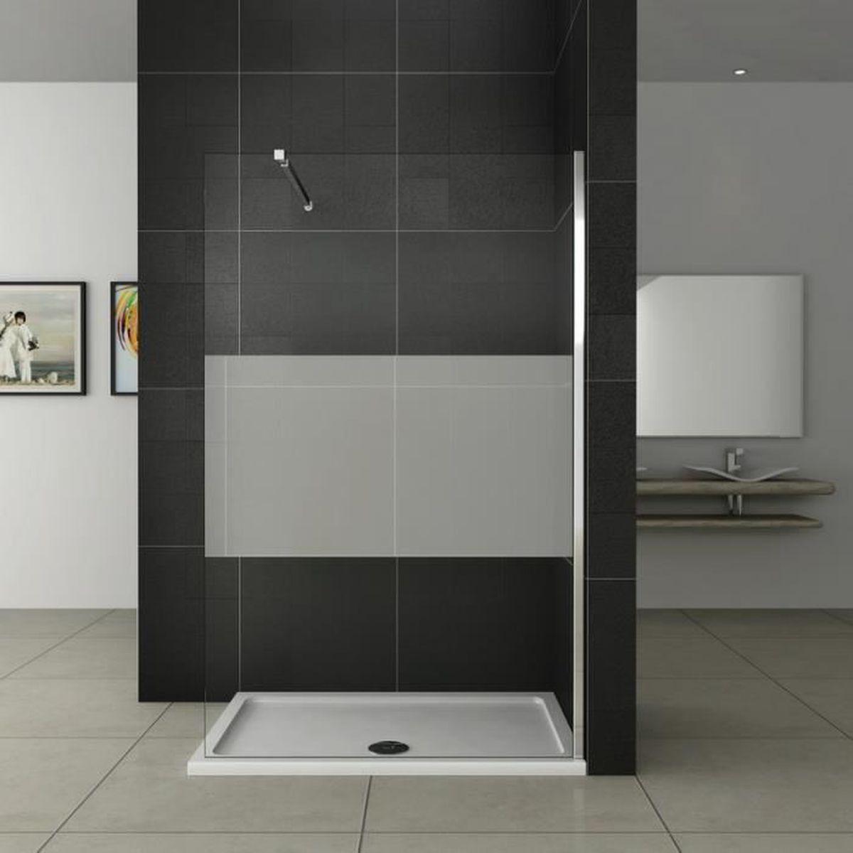 140 200cm walk in paroi de douche anticalcaire achat. Black Bedroom Furniture Sets. Home Design Ideas