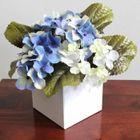 Fleur Artificielle Hortensia Bleu En Pot Achat Vente Fleur