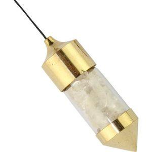 PENDULE DIVINATOIRE Pendule de Radiesthésie avec chambre cristal de ro
