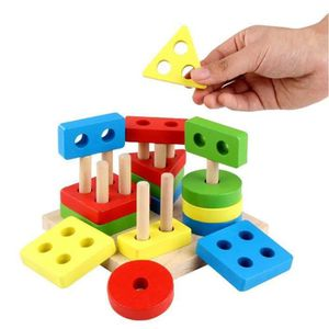 PUZZLE  Jouet Enfant 2 Ans géométriques en Bois Puzzles p