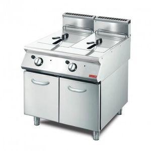 FRITEUSE ELECTRIQUE Friteuse à gaz 850 mm - 2 x 13 L - Gastro M